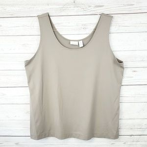 Chico's Tan Microfiber Sleeveless Tank Top Size XL